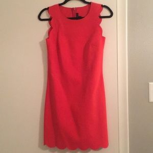 J Crew Scalloped Coral Dress